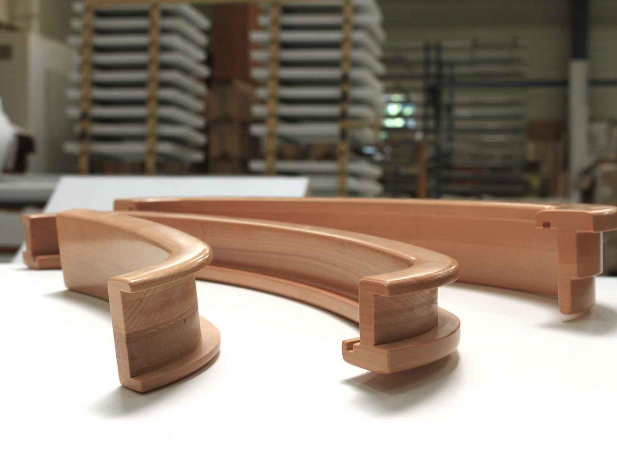 Usinage de pièces en bois